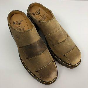 Dr. Martens leather clogs mules